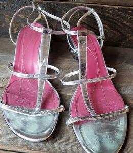 Kate Spade Silver Ball Kitten Heels